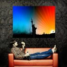 Militarism Statue Of Liberty Weapon Huge 47x35 Print POSTER