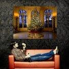 Great Christmas Tree Fir Lights Huge 47x35 Print POSTER