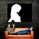 Hot Girl Black Silhouette Art Minimal Huge 47x35 Print POSTER