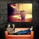 Coffee Splashes Lights Macro Huge 47x35 Print POSTER