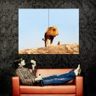 Father Lion Cute Baby Wild Cat Animal Huge 47x35 Print POSTER