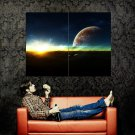 Planet Surface Stars Space Huge 47x35 Print POSTER