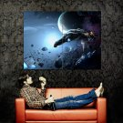 Space Craft Ships Asteroids Planet Huge 47x35 Print POSTER