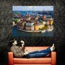Stockholm City Sweden Europe Huge 47x35 Print Poster