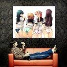 FOUR BUTTS Sexy Panties Anime Art Huge 47x35 Print Poster