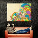 Color Dinos Rainbow Cool Art Abstraction POSTER