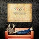 GOOGLE Paper Envelope Cool Hi Tech Huge 47x35 Print Poster