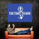 The Time Is Now Finals Mavs Trophy Poster