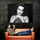 Elizabeth Taylor BW Actress Vintage Huge 47x35 Print Poster