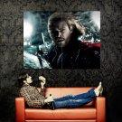 THOR Movie Rain Chris Hemsworth Huge 47x35 Print Poster