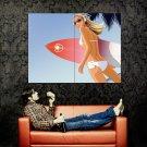 Hot Surfer Girl Sexy Cool Art Huge 47x35 Print Poster