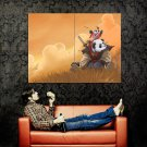 Samurai Panda Animal Cool Art Huge 47x35 Print Poster