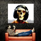 DEAD DJ Skeleton Death Skull Huge 47x35 Print Poster