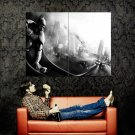 Arkham Hero Batman Bw Huge 47x35 Print Poster