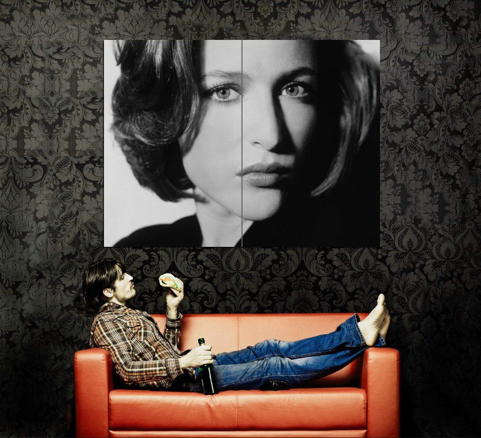Gillian Anderson BW Hottest Women Huge 47x35 Print Poster