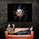 New York Islanders Logo NHL Huge 47x35 Print Poster