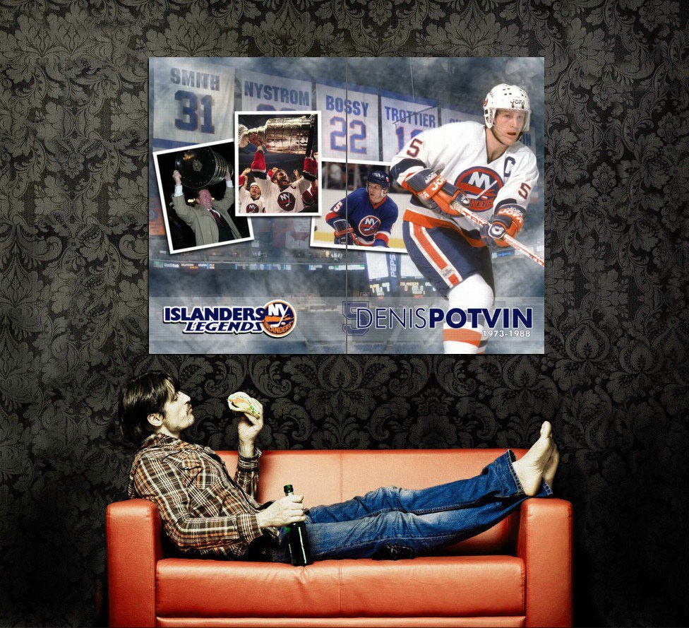Denis Potvin Legend NY Islanders NHL Huge 47x35 Print Poster