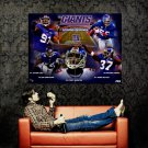 New York Giants Strong Defence NFL Huge 47x35 Print Poster
