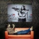 Mona Militarisa Jokonda Cool Art Huge 47x35 Print Poster