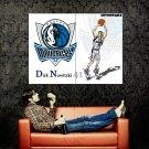 Dirk Nowitzki Macericks Art NBA Huge 47x35 Print Poster