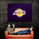 Los Angeles Lakers Logo NBA Huge 47x35 Print Poster