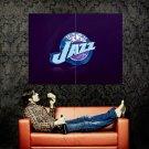 Utah Jazz Logo Basketball NBA Huge 47x35 Print Poster
