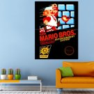 Game Nintendo Super Mario Brother Huge 47x35 Print POSTER