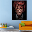 Octopus Man Crazy Designs Huge 47x35 Print POSTER