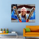 Julia Mancuso Sport Skier Olympic Hampion Huge 47x35 Print POSTER