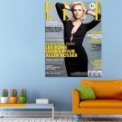 Magazine Elle Charlize Theron Actress Prometheus Huge 47x35 Print POSTER