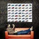 Nissan Skyline Evolution Collage Amazing Car Huge 47x35 Print Poster
