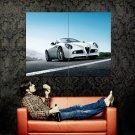 Alfa Romeo White Car Huge 47x35 Print Poster