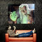 Mage Old Wizard Magic Fantasy Painting Art Huge 47x35 Print Poster