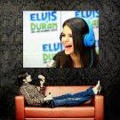 Selena Gomez Funny Smile Pop Singer Music Huge 47x35 Print Poster