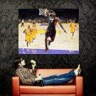 Lebron James Dunk Vs Lakers NBA Huge 47x35 Print Poster