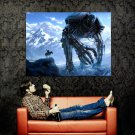 Snow Rider Giant Warrior Fantasy Artwork Huge 47x35 Print Poster