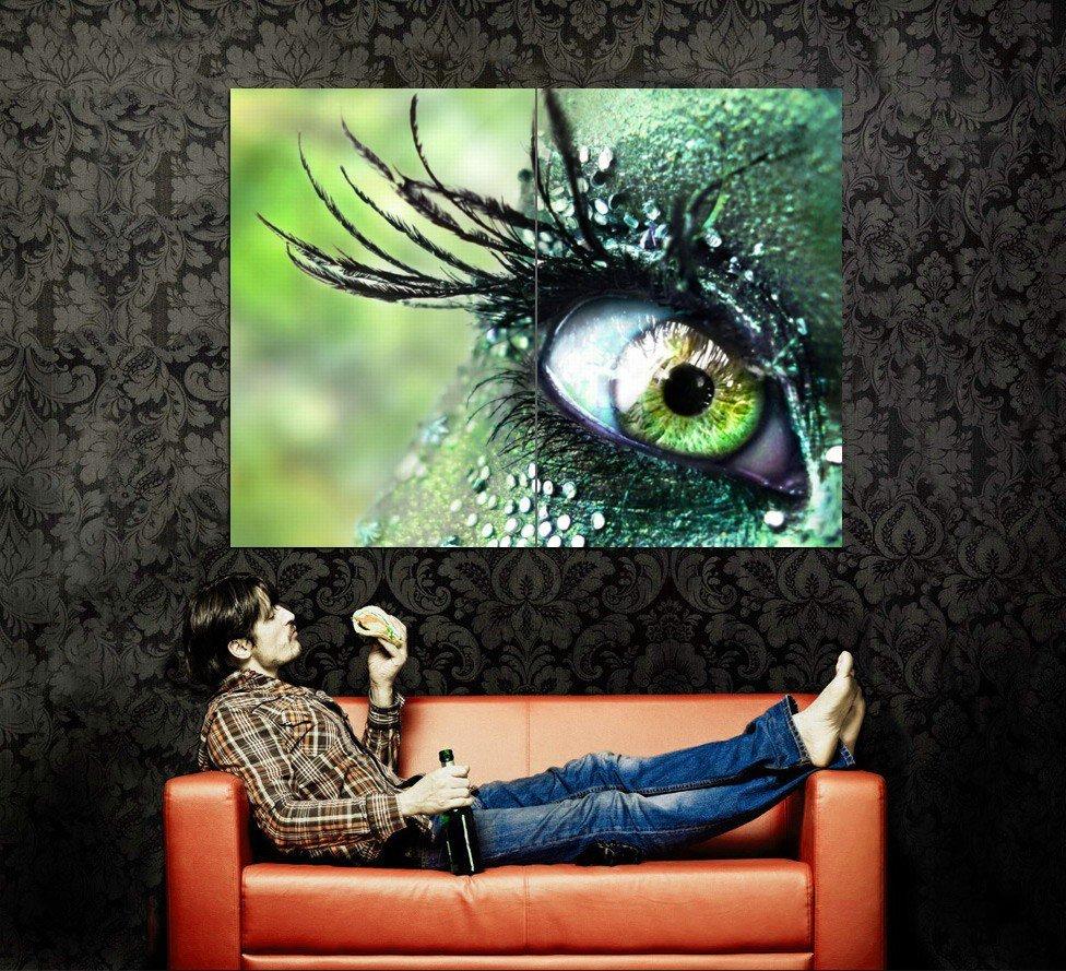 Eye Reptile Macro CloseUp Fantasy Huge 47x35 Print Poster