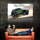 Mini Cooper Jump Dust Car Huge 47x35 Print Poster