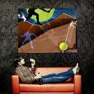 Tennis Silhouette Art Sport Huge 47x35 Print Poster