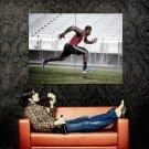 Von Miller Running Football Sport Huge 47x35 Print Poster