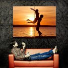 Love Couple Sunset Beach Huge 47x35 Print Poster