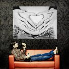 Pregnancy Love Couple BW Huge 47x35 Print Poster