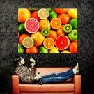 Fruits Colors Macro Food Huge 47x35 Print Poster
