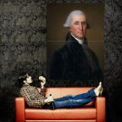 George Washington President Painting Huge 47x35 Print Poster