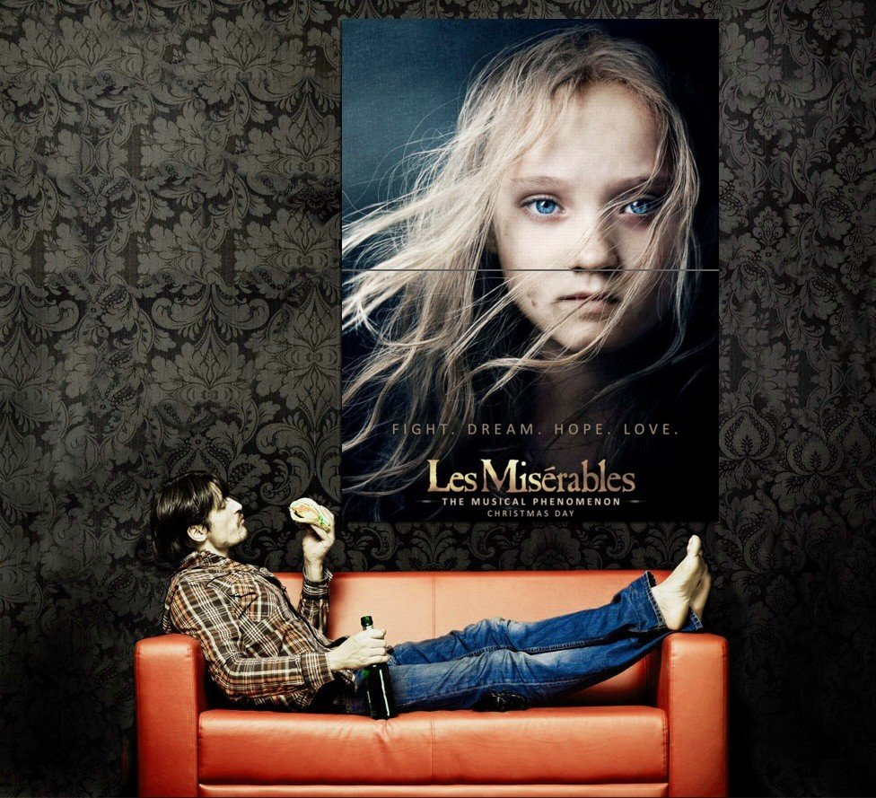 Les Miserabes 2012 Movie Huge 47x35 Print Poster