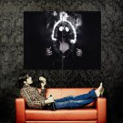 Hot Girl Gas Mask Huge 47x35 Print Poster