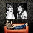Jagger And Richards BW Huge 47x35 Print Poster