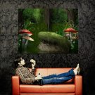 Fairy Mushrooms Fantasy Forest Huge 47x35 Print Poster