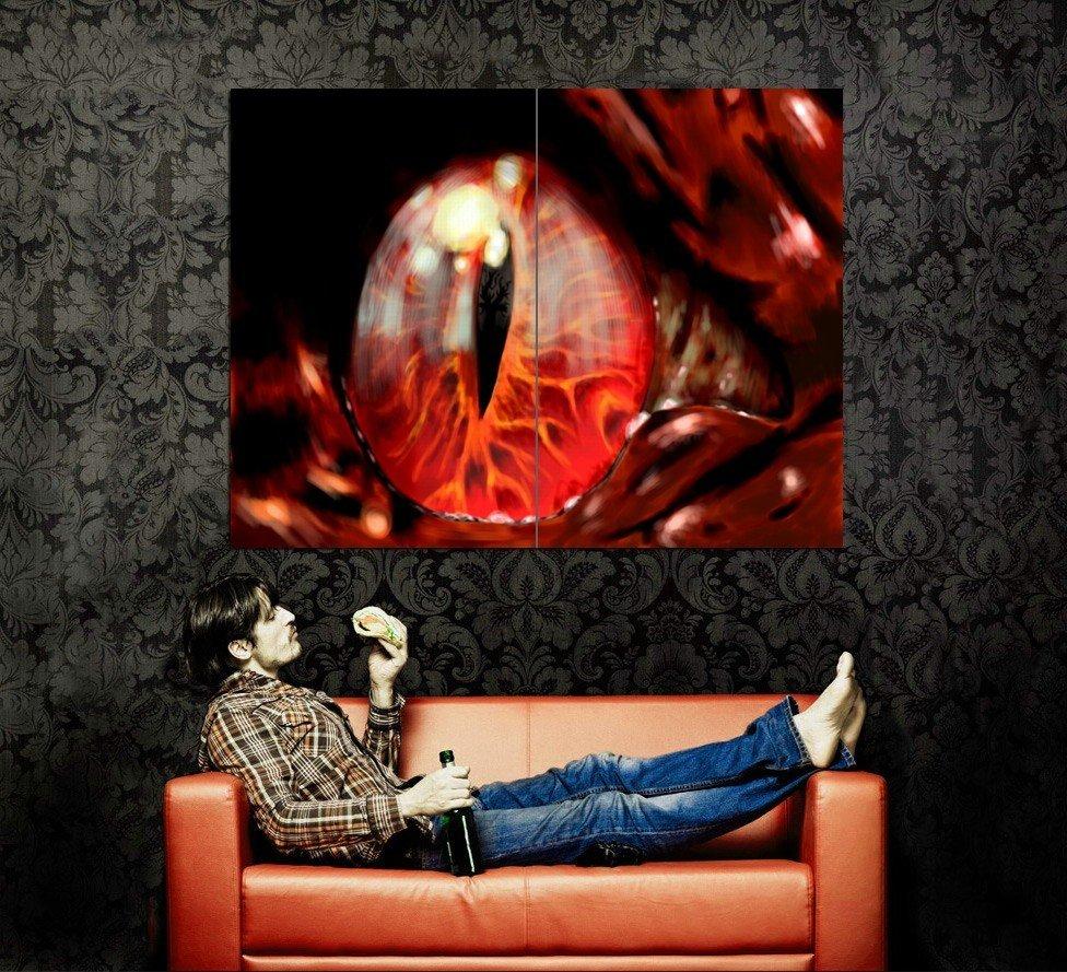 Dragon Eye Fantasy Art Huge 47x35 Print Poster