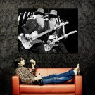 ZZ Top Rock Band Music BW Huge 47x35 Print Poster